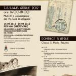 Schignano, Locandina celebrazioni Titanic